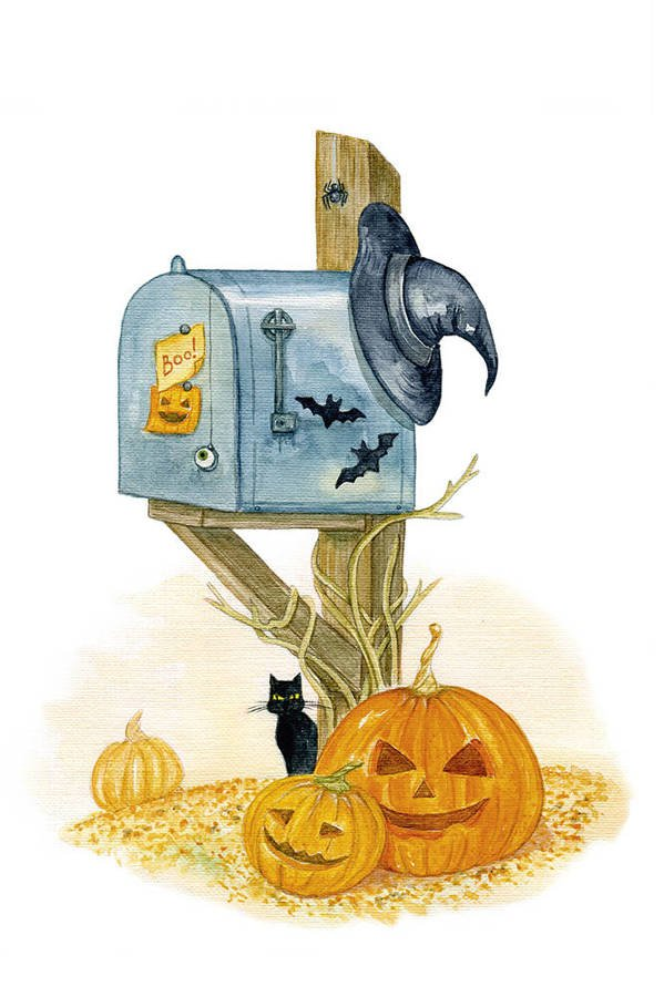 Halloween mailbox
